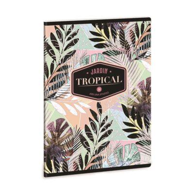 Füzet ARS UNA A/5 40 lapos Extra kapcsos kockás Tropical Leaf