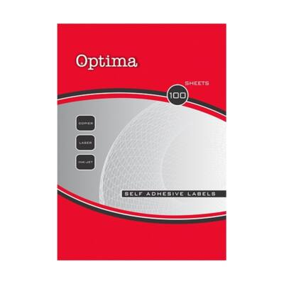 Etikett OPTIMA 32105 192x61mm 400 címke/doboz 100 ív/doboz
