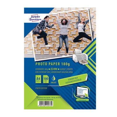Fotópapír AVERY E2796 A/4 inkjet fényes 180 gr 100 ív/doboz