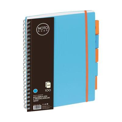 Spirálfüzet regiszteres GRAND A/4 kockás 100 lapos kék