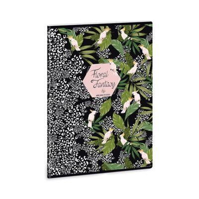 Füzet ARS UNA A/4 40 lapos kockás Floral Kakadu