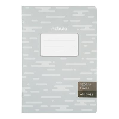Szótárfüzet NEBULO basic+ A/5 32 lapos 31-32