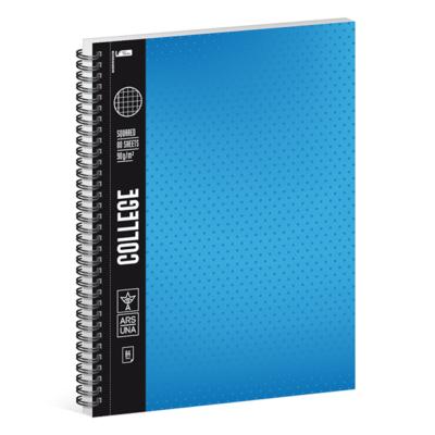 Spirálfüzet ARS UNA College A/4 80 lapos kockás kék