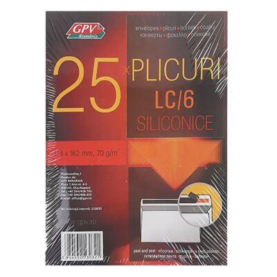 Boríték GPV LC/6 öntapadós bélésnyomott 114x162mm 25 db/csomag