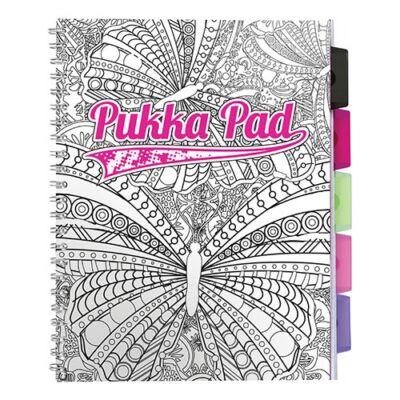 Spirálfüzet PUKKA PAD Colour regiszteres A/4 100 lapos vonalas színes