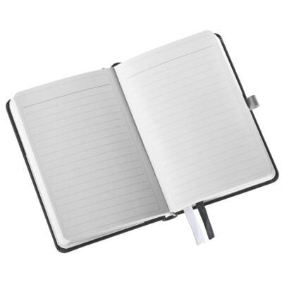 Jegyzetfüzet LEITZ Style A/6 80 lapos vonalas szaténfekete