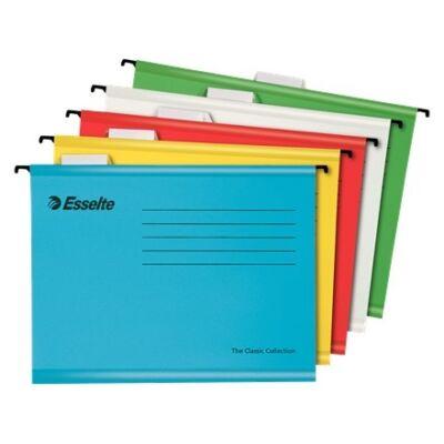 Függőmappa ESSELTE Classic A/4 újrahasznosított karton 10 db/cs vegyes