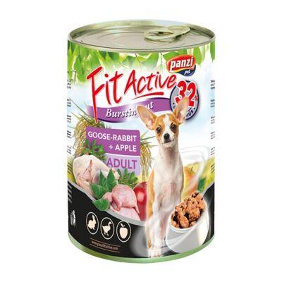 Állateledel konzerv PANZI FitActive kutyának liba- és nyúlhússal, almával 415 g