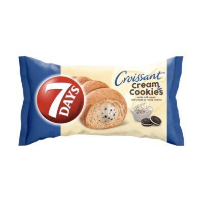 Croissant 7DAYS Cream&Cookies vanília ízű krémmel töltött kakaós keksz darbokkal 60g