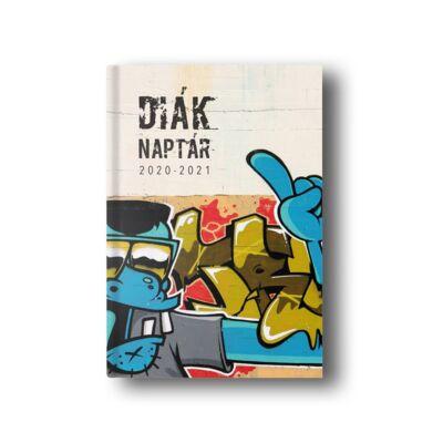 Diák zsebkönyv TOPTIMER papírborító B/6 120x170mm Street Art 2020-2021