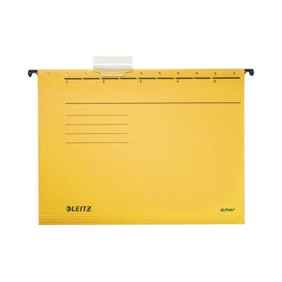 Függőmappa LEITZ Alpha Standard A/4 karton sárga 25 db/doboz