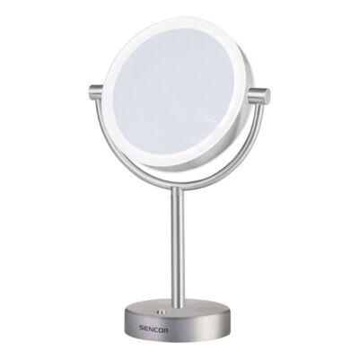 Kozmetikai tükör SENCOR SMM 3090SS LED kétoldalas 18 cm