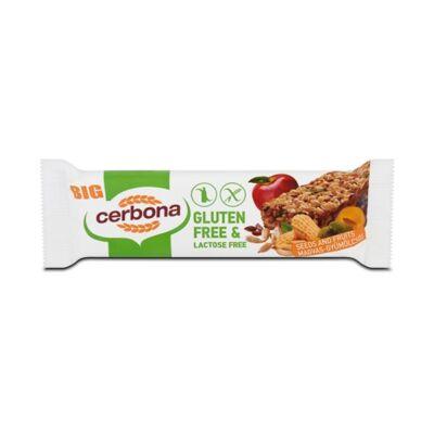 Müzliszelet CERBONA gluténmentes magvas-gyümölcsös 35g