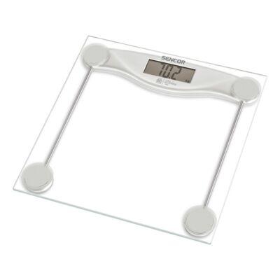 Személymérleg SENCOR SBS 113SL LCD 150 kg üveg ezüst